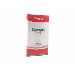 Captopril Genfar 50 Mg X 30...