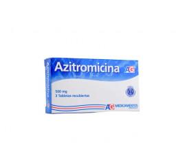 Azitromicina AG 500 Mg X 3...