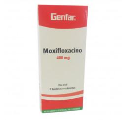 Moxifloxacino 400 mg x 7...