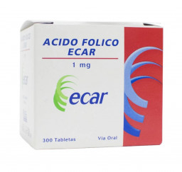 Acido Folico ecar 1Mg X 30...