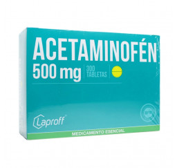 Acetaminofen 500 Mg x 300...