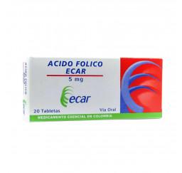 Acido Folico ecar 5Mg X 20...