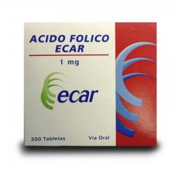 Acido Folico ecar 1Mg X 300...