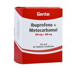 Ibuprofeno + Metocarbamol...